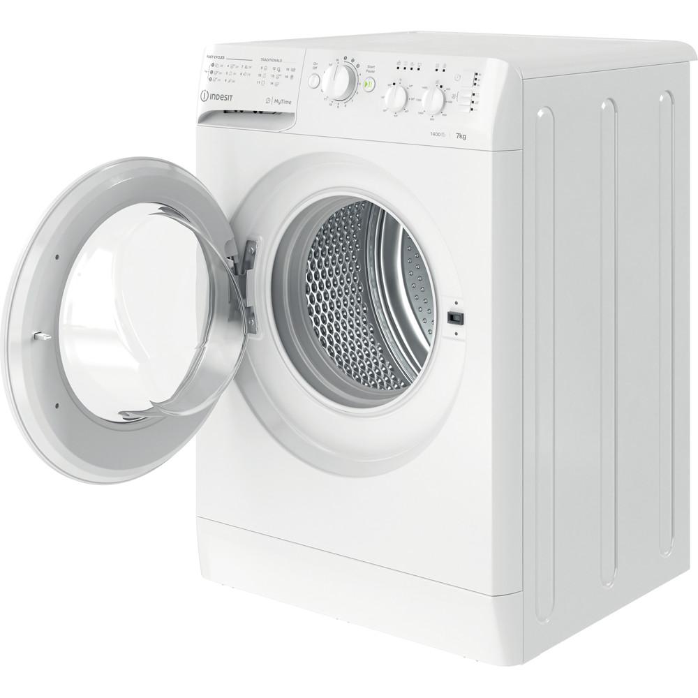 Indesit Wasmachine Vrijstaand MTWC 71452 W EU Wit Voorlader E Perspective open
