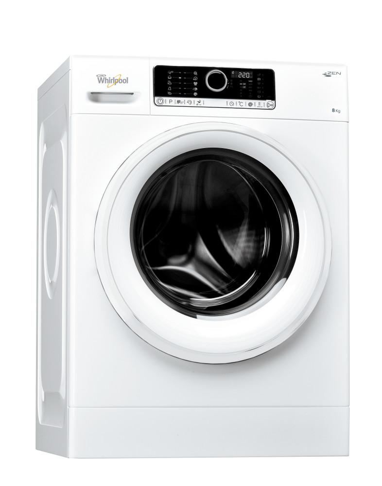 Whirlpool Perilica za rublje Samostojeći FSCR 80415 Bijela Prednje punjenje A+++ Perspective