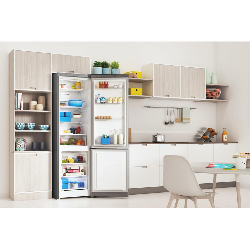 Indesit Холодильник с морозильной камерой Отдельностоящий ITR 5200 X Inox 2 doors Lifestyle perspective open