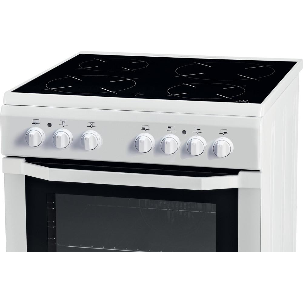 Indesit Cuisinière I6VMH2A(W)/GR Blanc Electrique Control panel