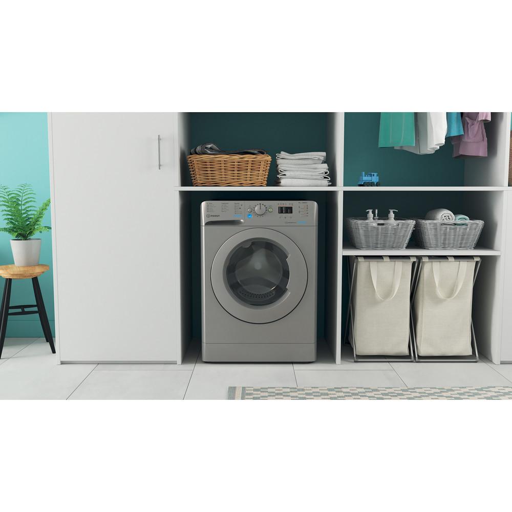 Indesit Washing machine Free-standing BWA 81483X S UK N Silver Front loader D Lifestyle frontal