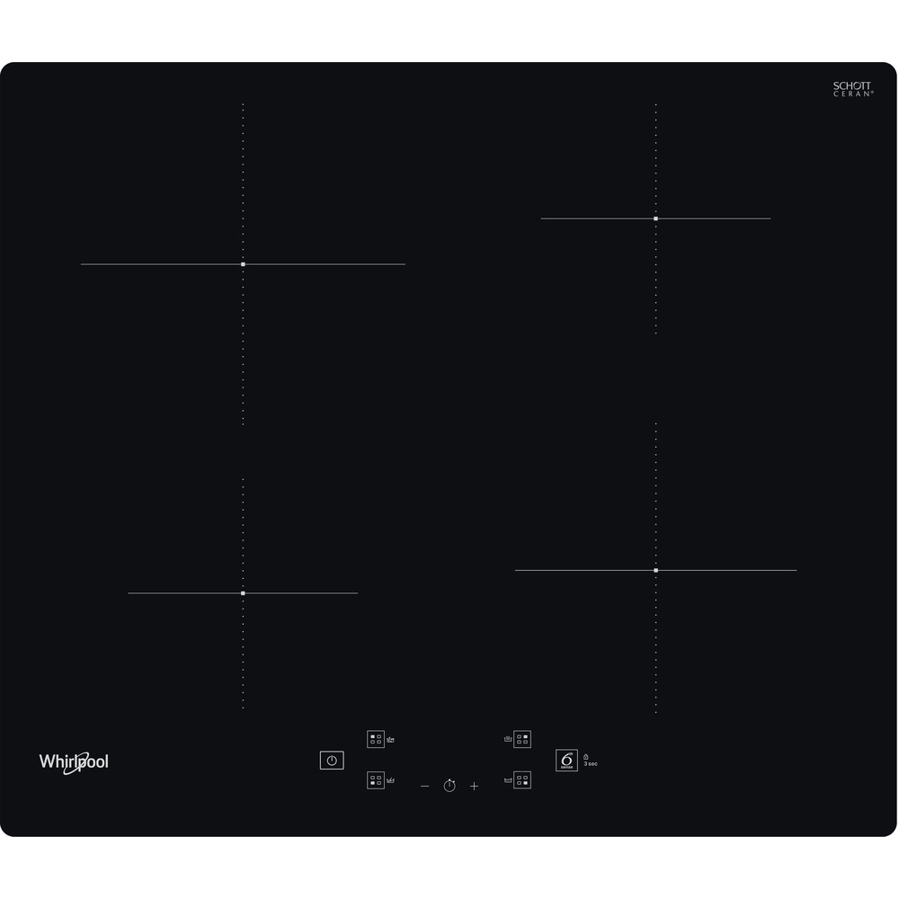 Whirlpool WS Q 2160 NE Induction Hob 4 Zones 60cm - Black