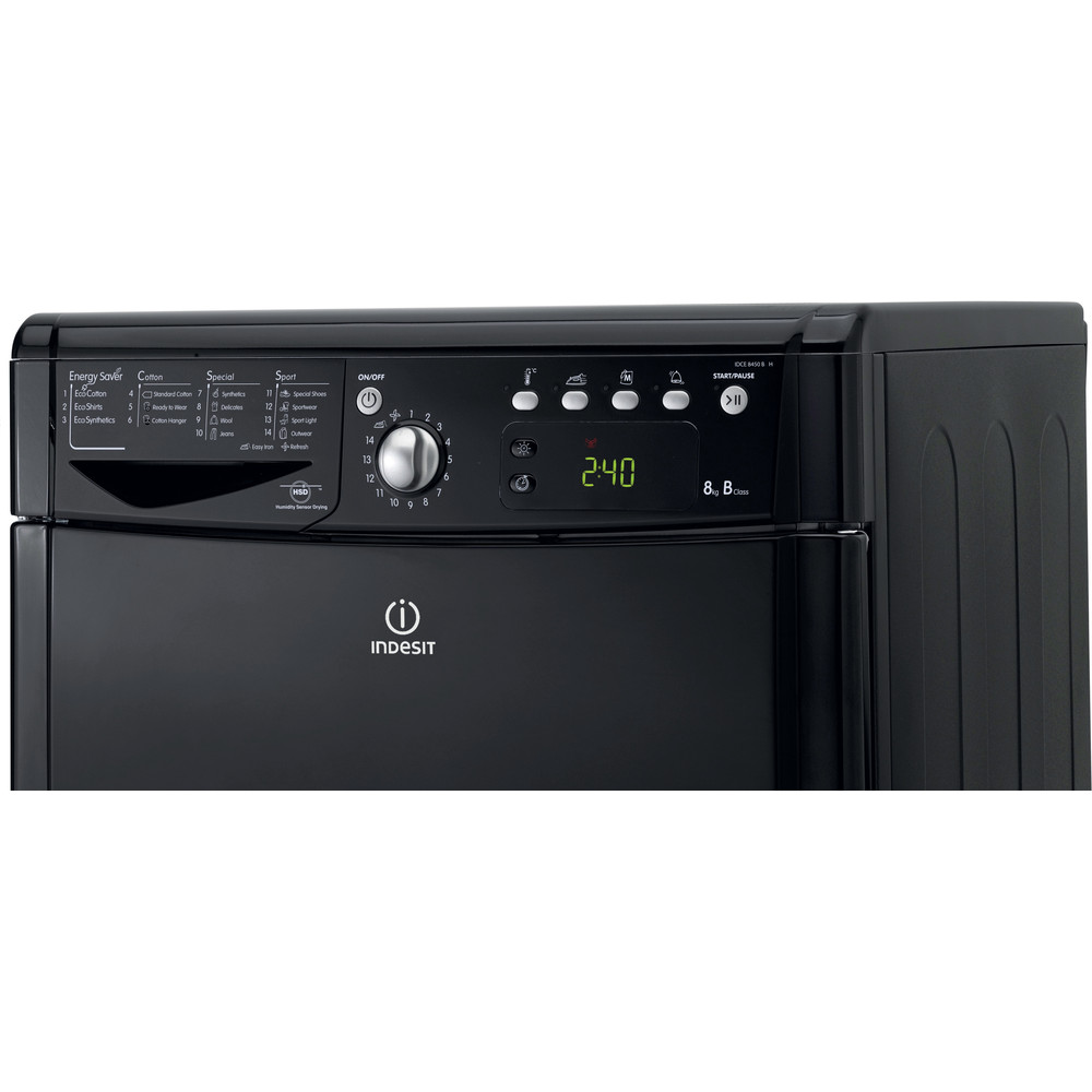 Indesit Dryer IDCE 8450 BK H (UK) Black Control panel