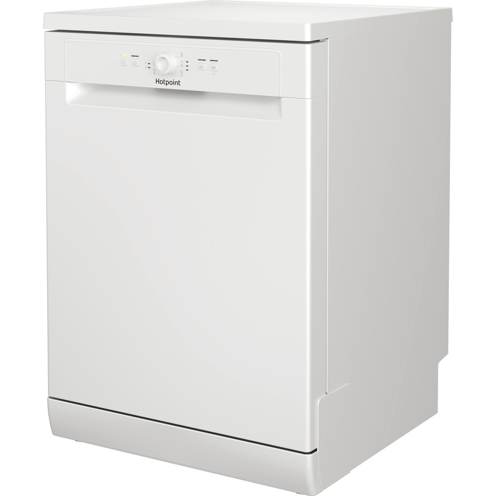 Hotpoint Dishwasher Free-standing HFE 1B19 UK Free-standing F Perspective
