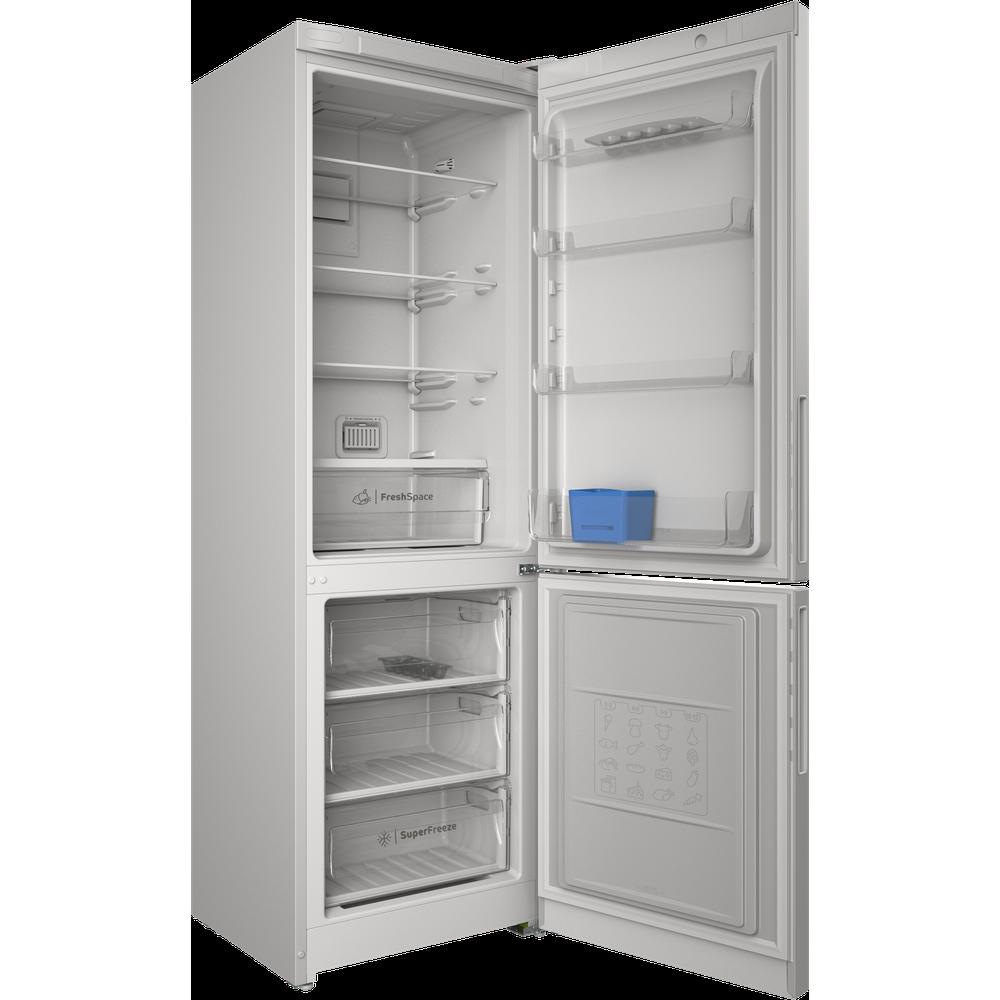 Indesit Холодильник с морозильной камерой Отдельностоящий ITR 5180 W Белый 2 doors Perspective open