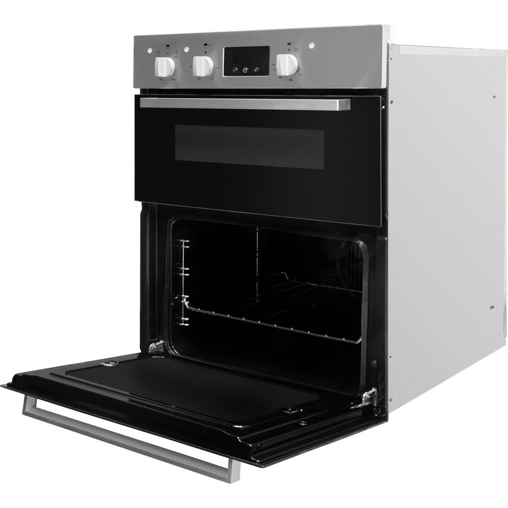 Indesit Double oven IDU 6340 IX Inox B Perspective open