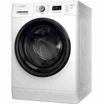 Whirlpool Maşină de spălat rufe Independent FFL 7038 B EE Alb Încărcare frontală D Perspective