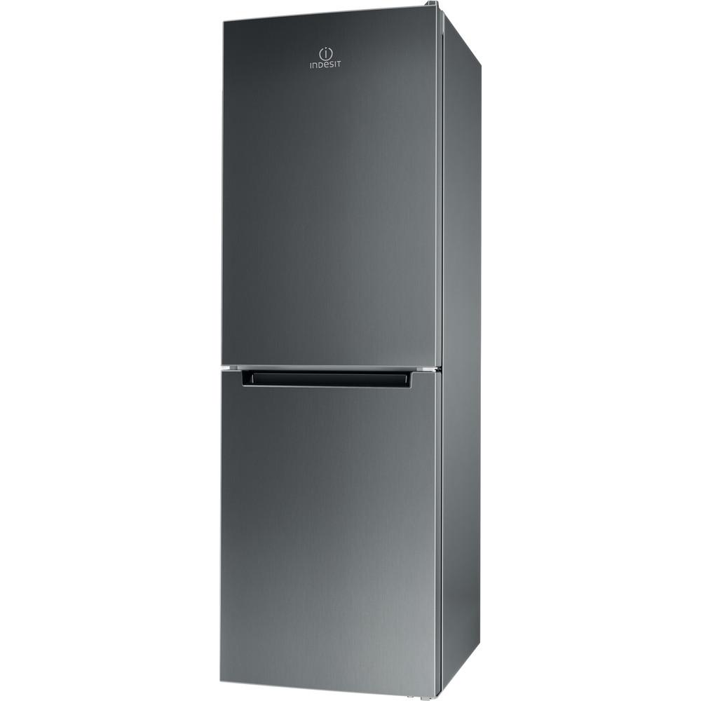 Indesit Kombinovaná chladnička s mrazničkou Volně stojící LR7 S2 X Nerez 2 doors Perspective