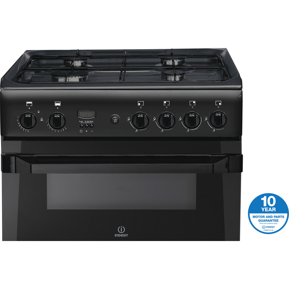 Indesit Double Cooker ID60G2(A) Antracite A+ Enamelled Sheetmetal Award