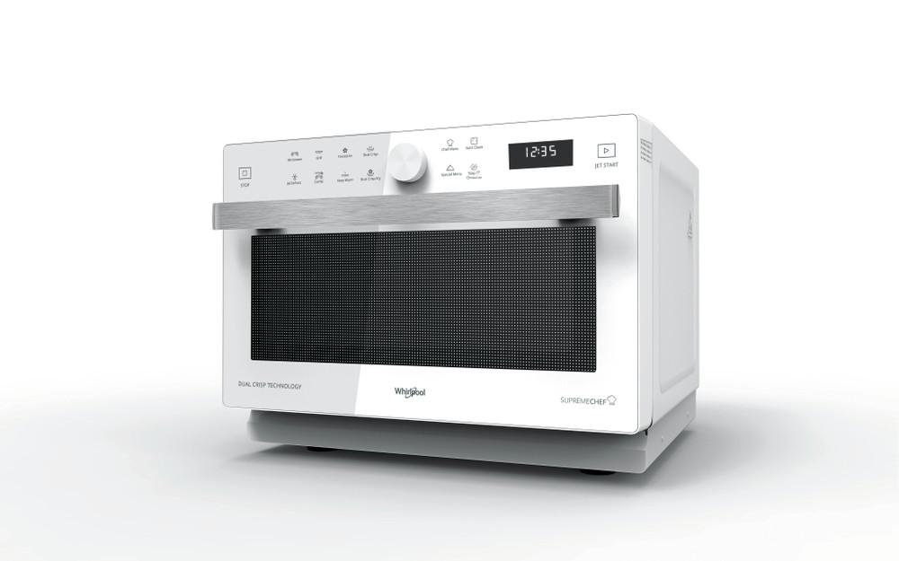 Whirlpool Mikroaaltouuni Vapaasti sijoitettava MWP 338 W Valkoinen Elektroninen 33 Mikroaaltotoiminto ja grilli 900 Perspective