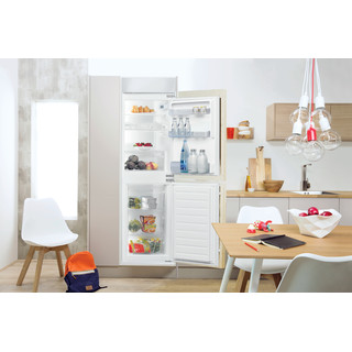 Indesit Fridge-Freezer Combination Built-in E IB 15050 A1 D.UK 1 White 2 doors Lifestyle frontal open