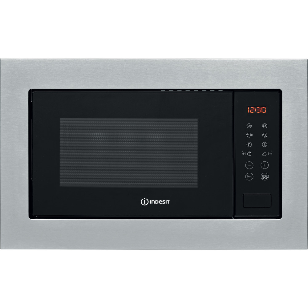 Indesit Microonde Da incasso MWI 125 GX Stainless Steel Elettronico 25 Microonde + grill 900 Frontal