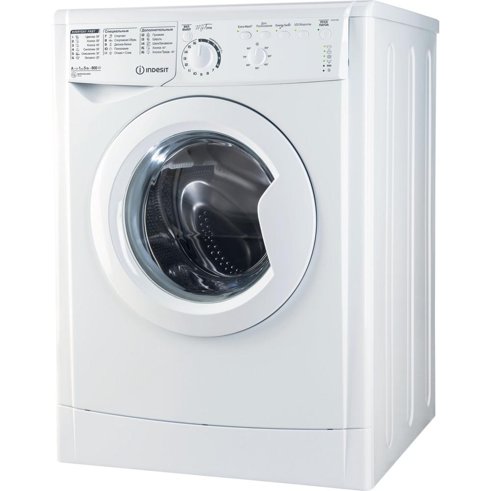 Indesit Стиральная машина Отдельностоящий EWSB 5085 CIS Белый Фронтальная загрузка A Perspective