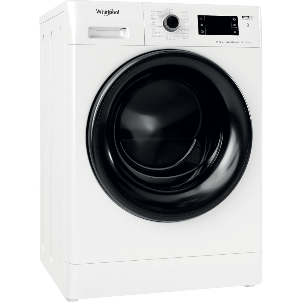 Whirlpool fristående tvätt-tork: 8 kg - FWDG 861483 WBV EE N