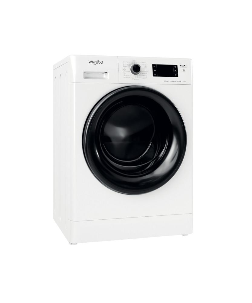 Whirlpool Пералня със сушилня Свободностоящи FWDG 861483 WBV EE N Бял Предно зареждане Perspective