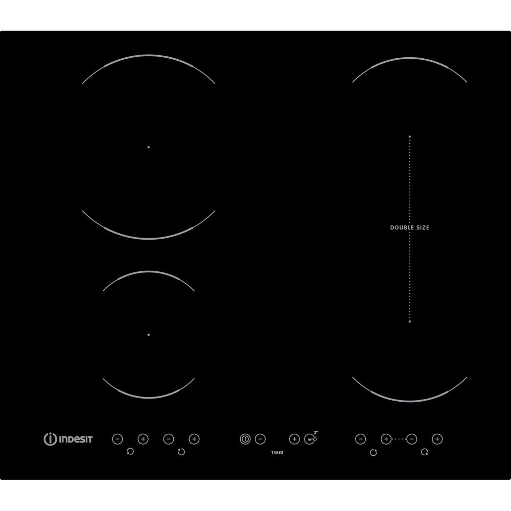 Indesit Płyta grzewcza VID 641 B C Czarny Induction vitroceramic Frontal