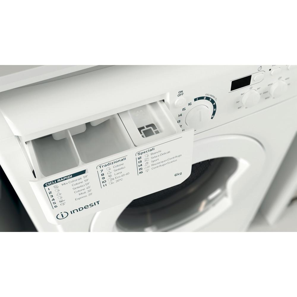Indesit Lavabiancheria A libera installazione EWSD 61251 W IT N Bianco Carica frontale F Drawer