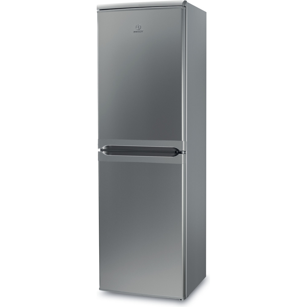 Indesit Fridge Freezer Free-standing IBD 5517 S UK 1 Silver 2 doors Perspective