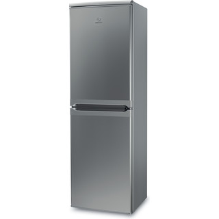 Indsit Racitor-congelator combinat Independent CAA 55 S 1 Silver 2 doors Perspective