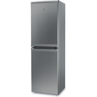 Indesit Fridge-Freezer Combination Free-standing IBD 5517 S UK 1 Silver 2 doors Perspective