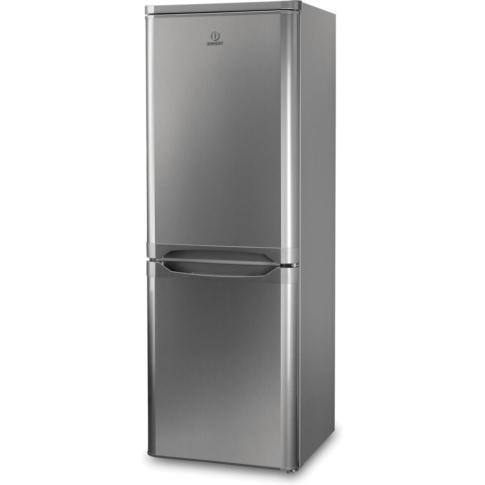 Indesit Combinazione Frigorifero/Congelatore A libera installazione NCAA 55 NX Inox 2 porte Perspective