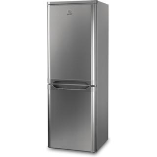 Indesit Комбиниран хладилник с камера Свободностоящи NCAA 55 NX Инокс 2 врати Perspective