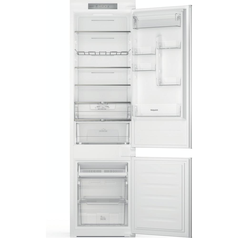 Hotpoint Fridge Freezer Built-in HTC20 T321 UK White 2 doors Frontal open