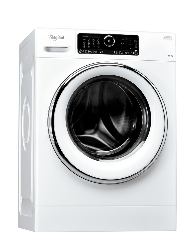 Whirlpool Washing machine Free-standing FSCR10421 White Front loader A+++ Perspective