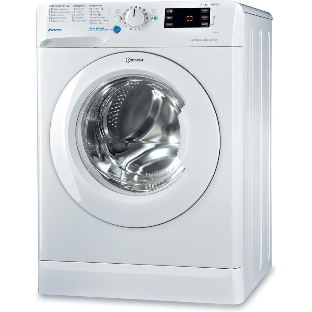 Indesit Стиральная машина Отдельностоящий BWSE 61051 Белый Фронтальная загрузка A Perspective