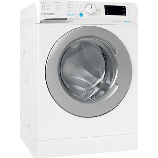 Indesit Tvättmaskin Fristående BWE 81484X WS EE N White Front loader C Perspective