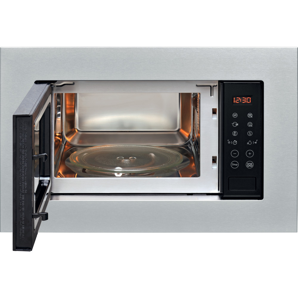 Indesit Microwave Built-in MWI 120 GX UK Stainless steel Electronic 20 MW+Grill function 800 Frontal open