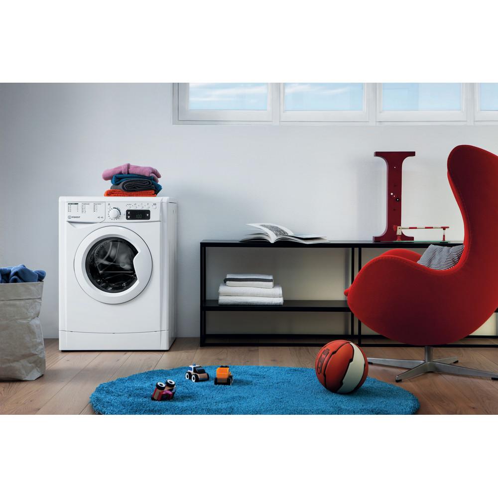 Indesit Tvättmaskin med torktumlare Fristående EWDE 751451 W EU N White Front loader Lifestyle frontal