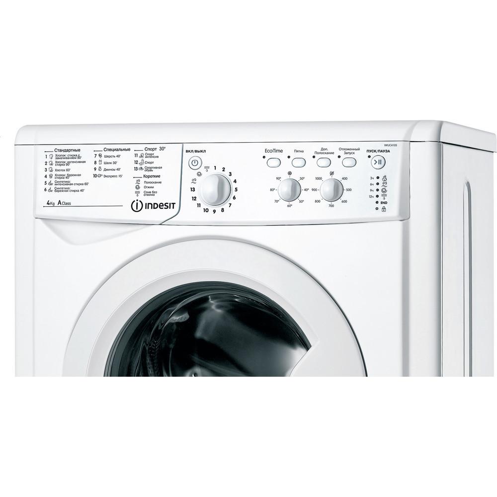 Indesit Стиральная машина Отдельностоящий IWUC 4105 (CIS) Белый Фронтальная загрузка A Control panel