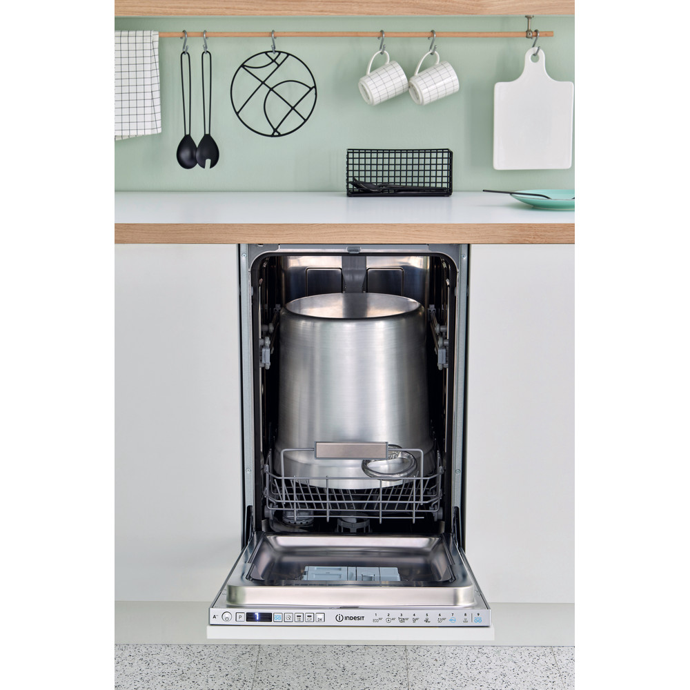 Indesit Máquina de lavar loiça Encastre DSIO 3T224 Z E Encastre total A++ Lifestyle frontal open
