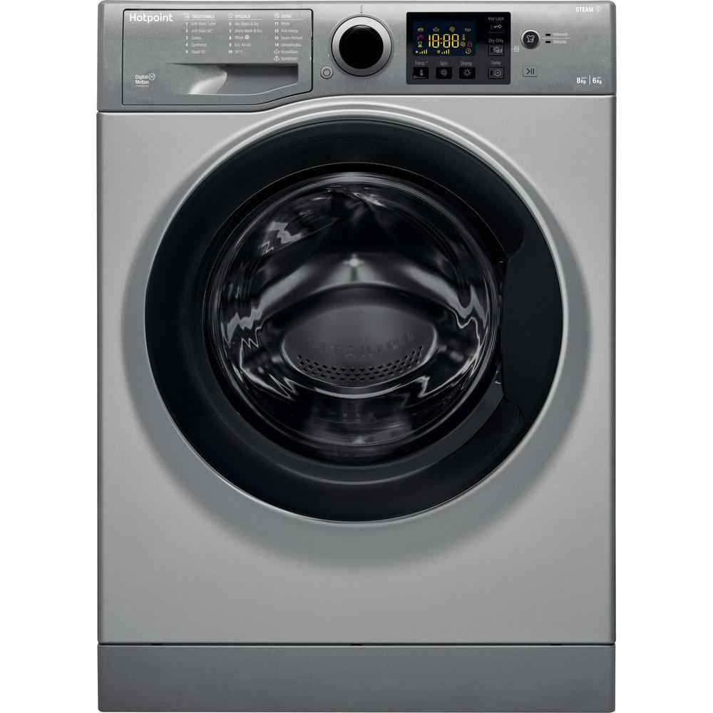 Hotpoint Washer dryer Free-standing RDG 8643 GK UK N Graphite Front loader Frontal