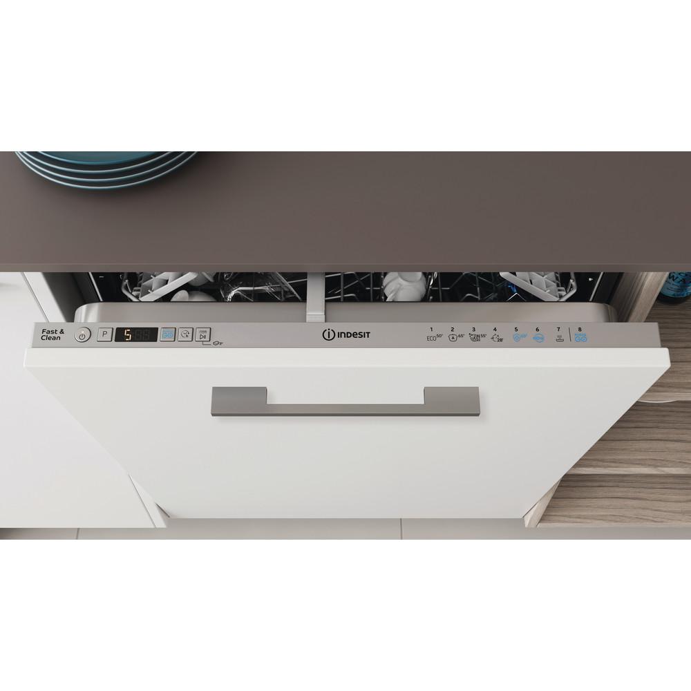 Indesit Lave-vaisselle Encastrable DIC 3C24 AC S Tout intégrable E Lifestyle control panel