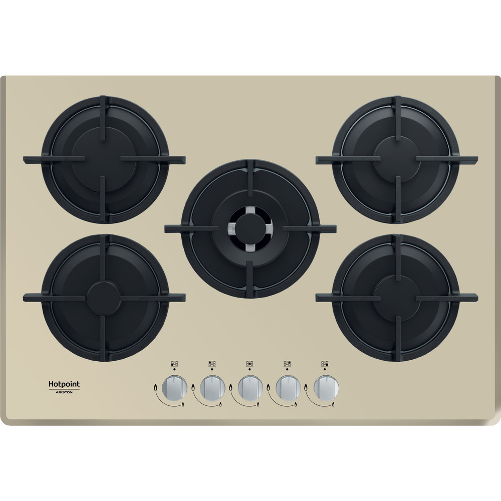 Hotpoint_Ariston Piano cottura HAGD 72S/CH Champagne GAS Frontal