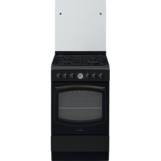 Indesit Cuisinière IS5G8MHA/FR Anthracite GAS Frontal