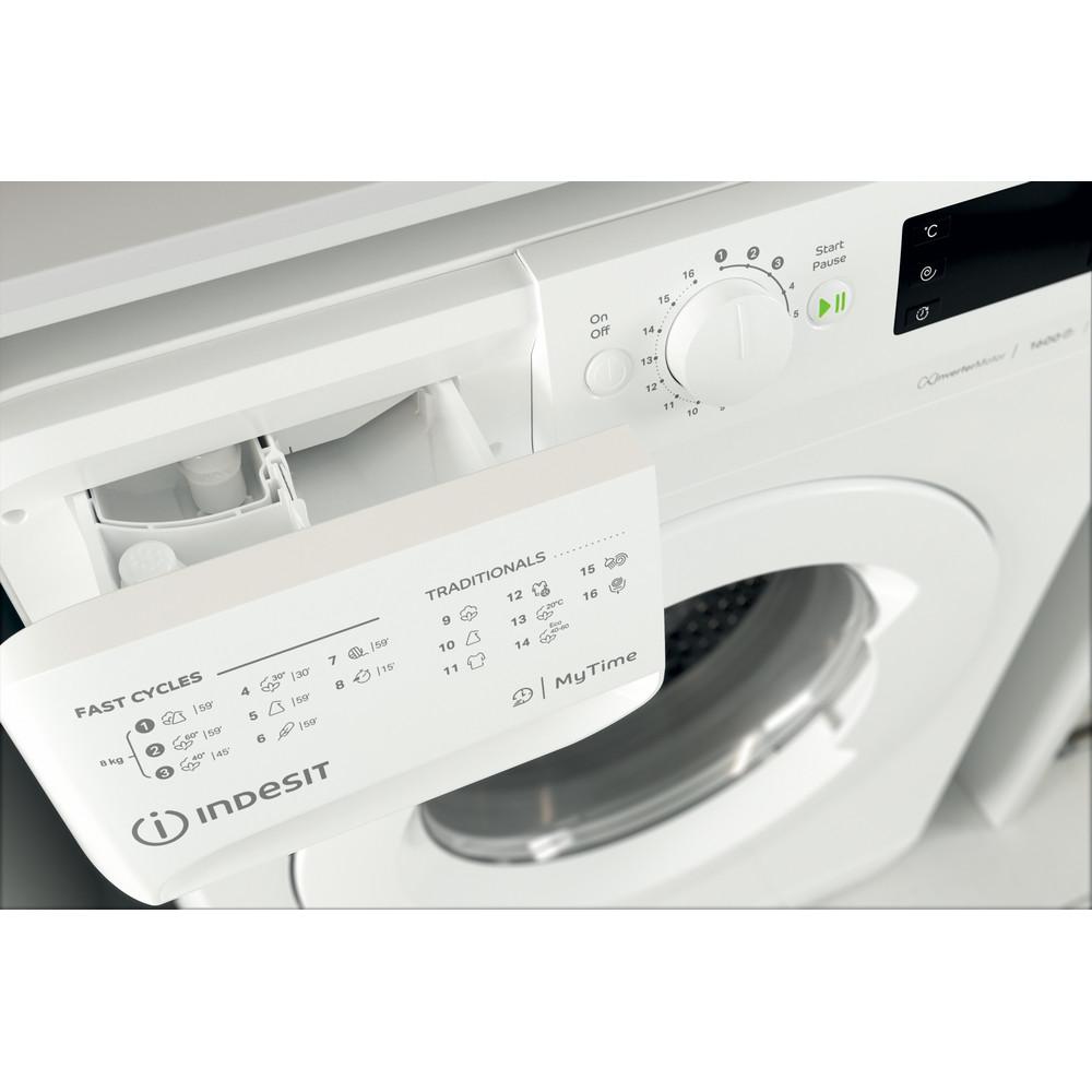 Indesit Vaskemaskin Frittstående MTWE 81683 W EU Hvit Front loader D Drawer