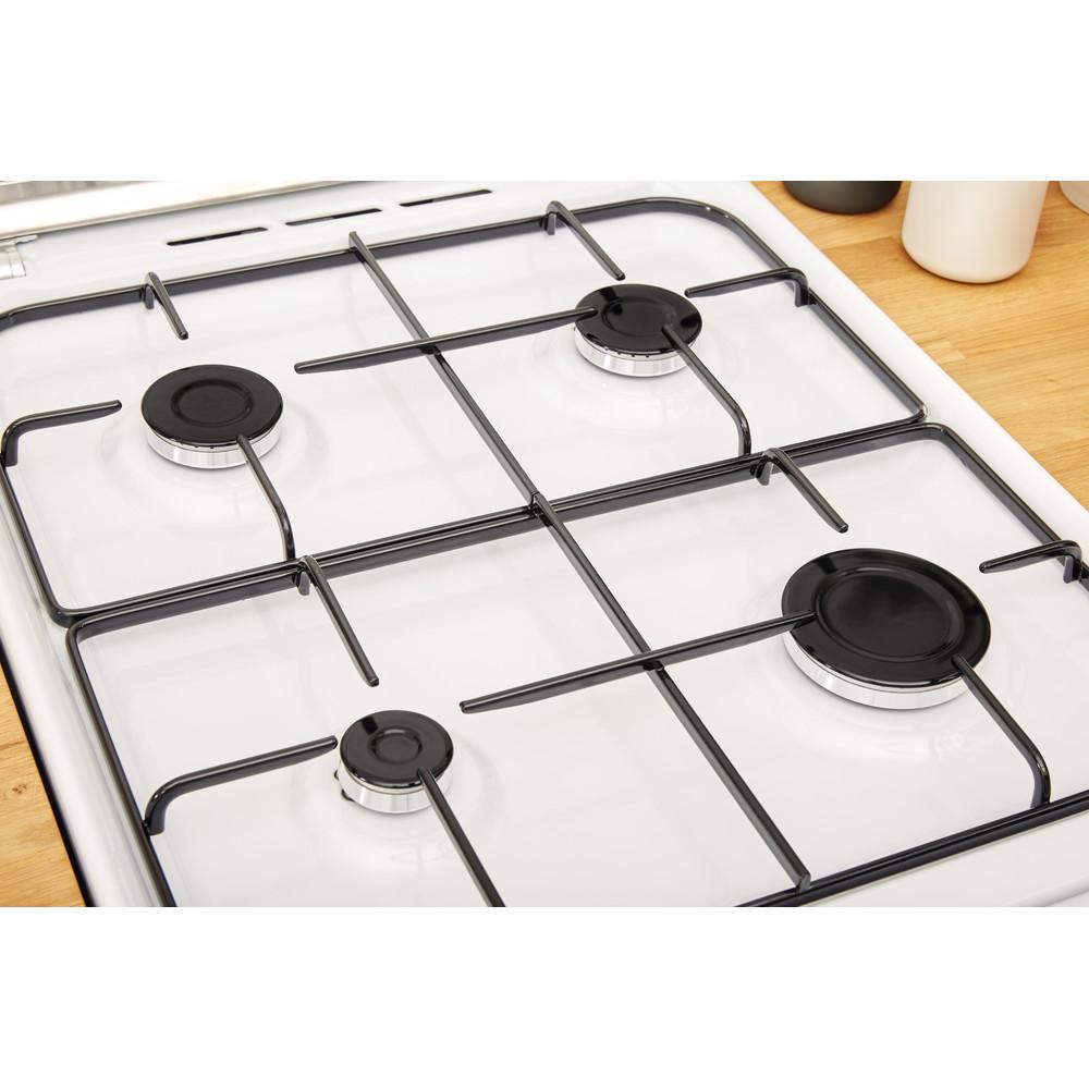 Indesit Double Cooker ID5G00KMW/UK /L White A+ Enamelled Sheetmetal Heating element