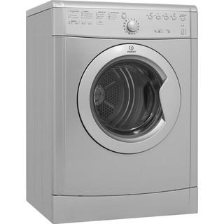 Indesit Dryer IDVL 75 BRS.9 UK Silver Perspective
