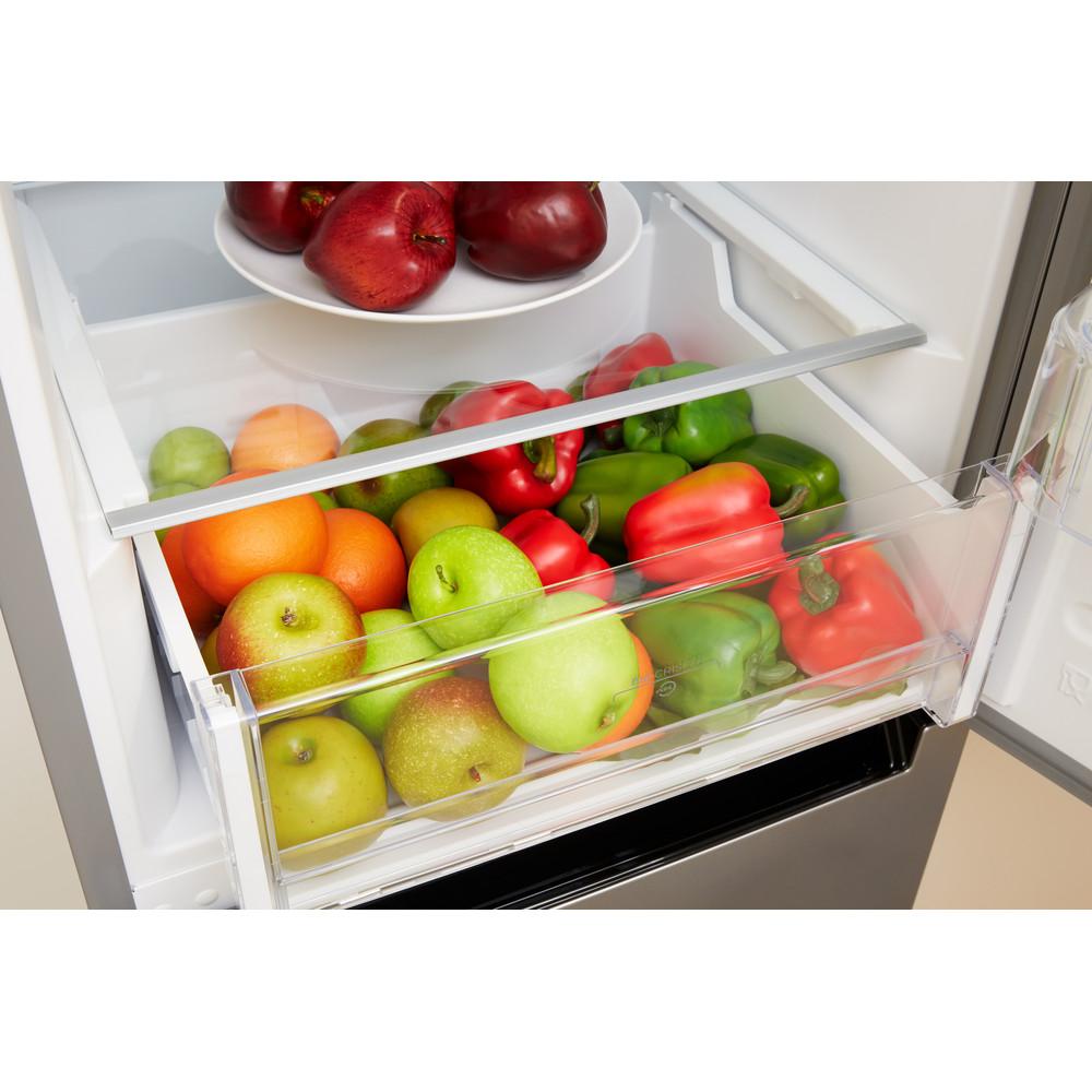 Indesit Kombinovaná chladnička s mrazničkou Volně stojící XIT8 T2E X Nerez 2 doors Drawer