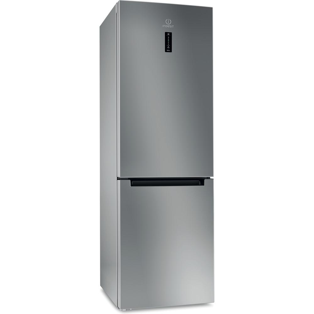 Indesit Холодильник с морозильной камерой Отдельностоящий DF 5180 S Серебристый 2 doors Perspective