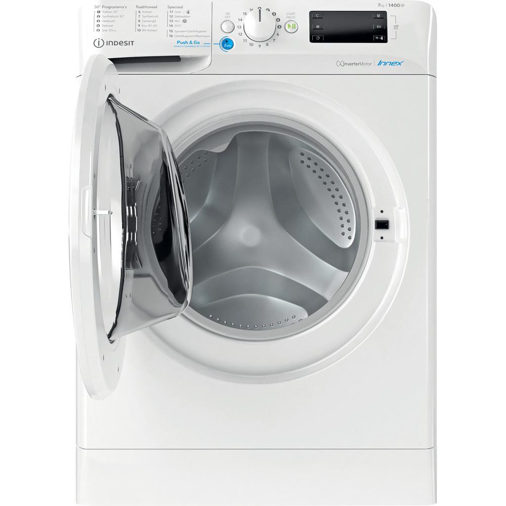 Indesit Wasmachine Vrijstaand BWENL 71483X W N Wit Voorlader D Frontal open