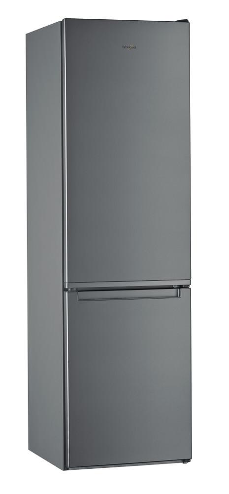 """Whirlpool Šaldytuvo / šaldiklio kombinacija Laisvai pastatomas W7 921I OX """"Optic Inox"""" 2 doors Perspective"""