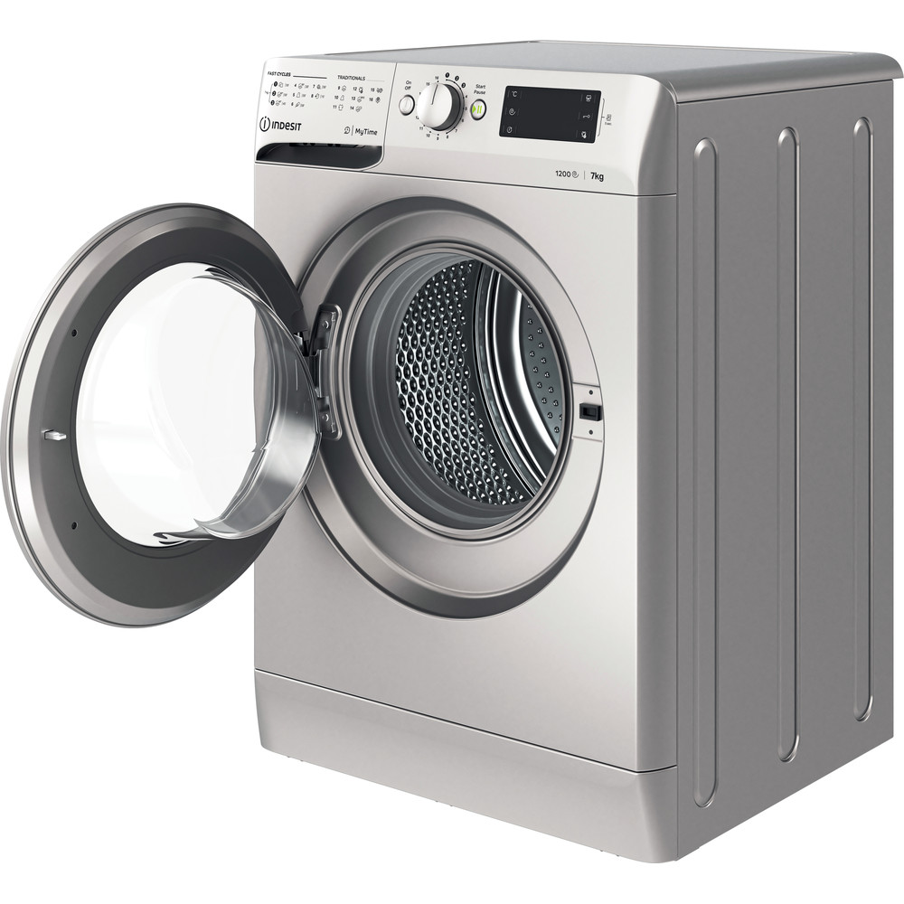 Indesit Пральна машина Соло OMTWE 71252 S EU Сріблястий Front loader A+++ Perspective open