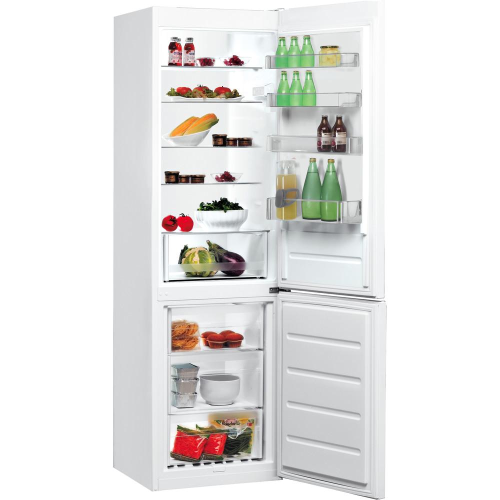 Indesit Холодильник з нижньою морозильною камерою. Соло LI9 S1Q W Білий 2 двері Perspective open