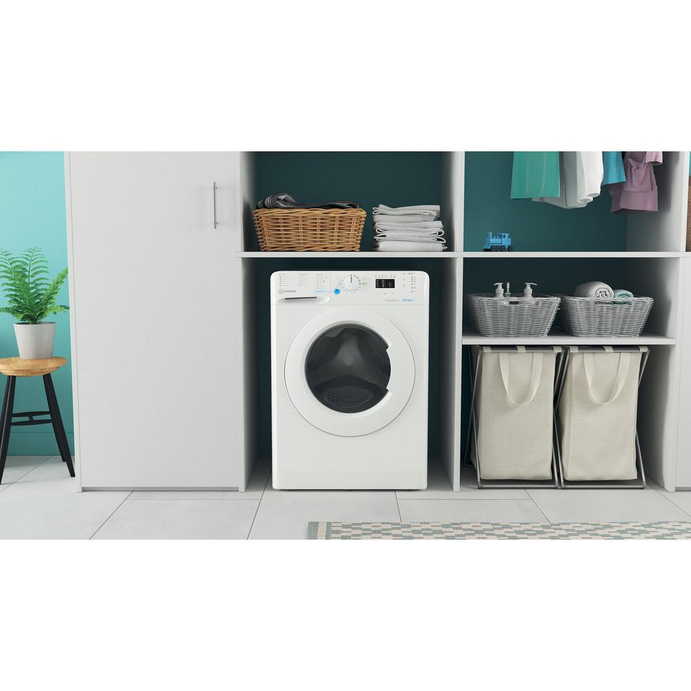 Indesit Washing machine Free-standing BWA 81683X W UK N White Front loader A+++ Lifestyle frontal