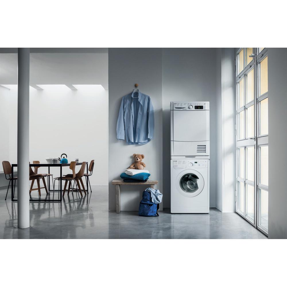 Indesit Washing machine Free-standing EWD 81483 W UK N White Front loader D Lifestyle frontal