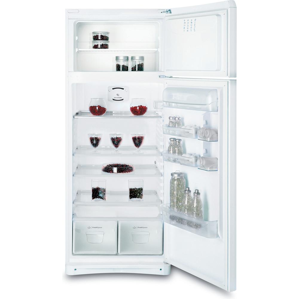 Indesit Combiné réfrigérateur congélateur Pose-libre TAA 5 V 1 Blanc 2 portes Frontal open